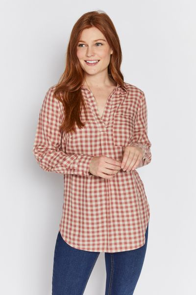 Pink Check Overhead Shirt