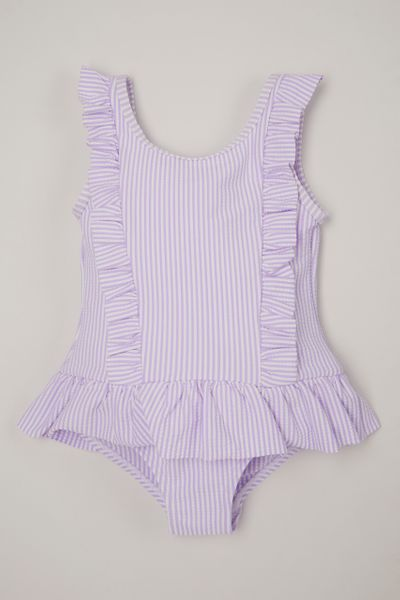 Lilac Seersucker swimsuit