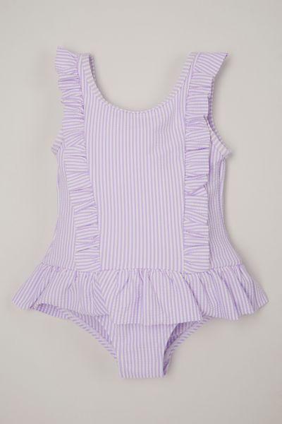 Lilac Seersucker swimsuit