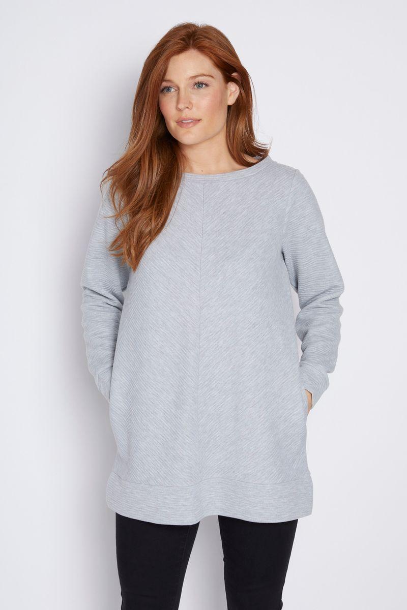 Grey Marl Sweatshirt Tunic
