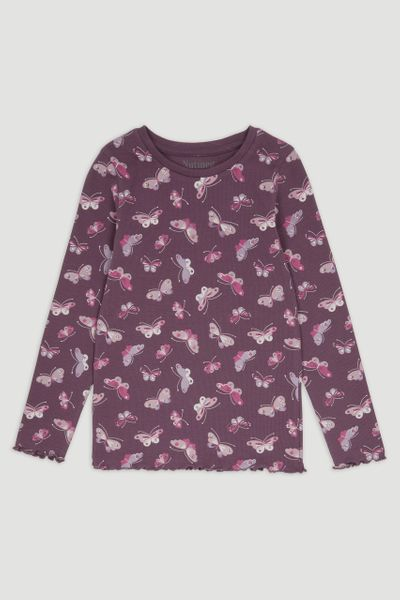 Butterfly Rib Long Sleeve T-Shirt 3-14yrs
