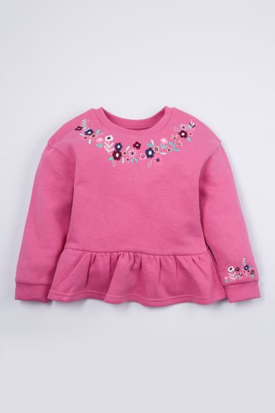 Flower Peplum sweatshirt
