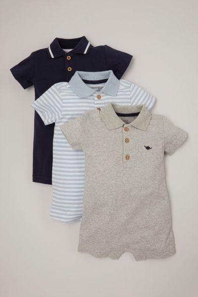 Online Exclusive 3 Pack Polo Shirt rompers