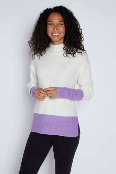 Lilac Colour Block Jumper