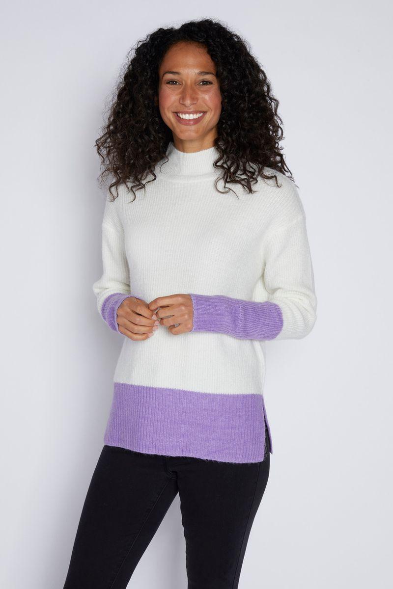 Lilac Colour Block Jumper