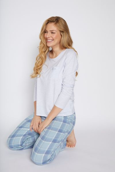 Blue Sleep In Slogan Pyjamas