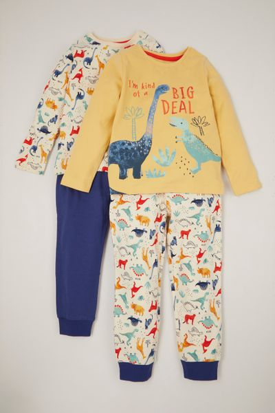 2 Pack Dino Print Pyjamas 1-6 yrs