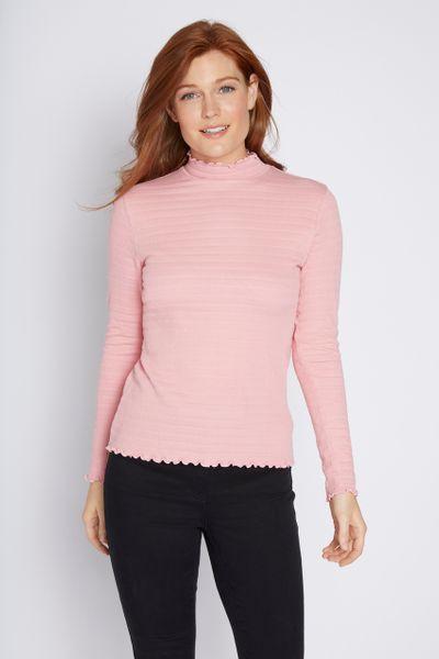 Pink Rib Texture Top