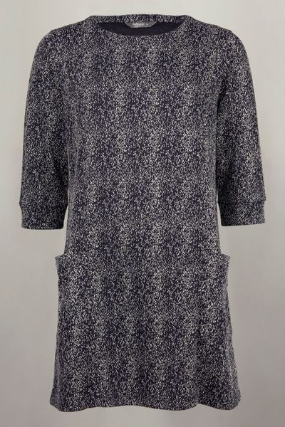 Navy Spot Tunic Dress
