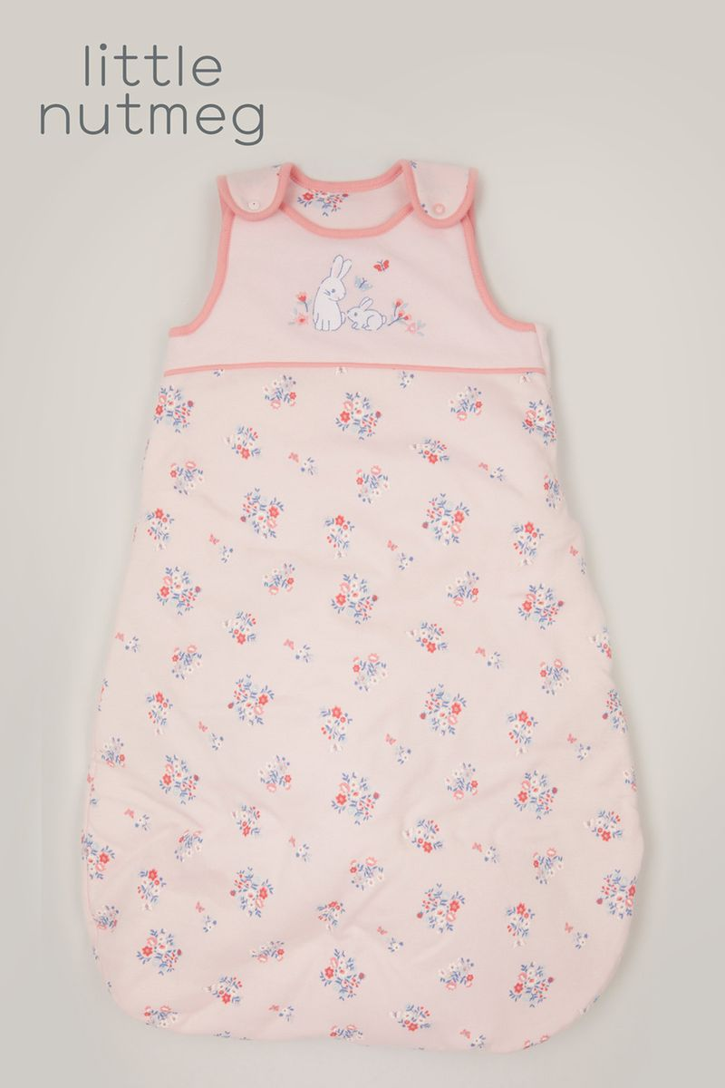 Little Nutmeg 2.5 Tog Pink Bunny Sleeping bag