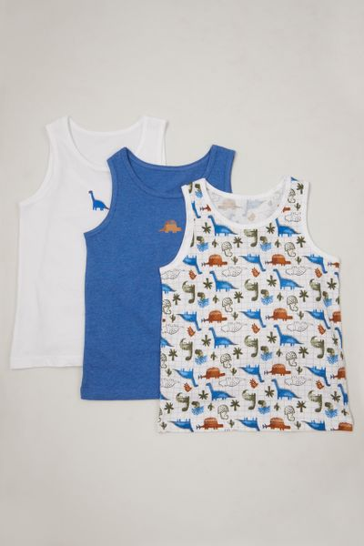 3 Pack Dino Check Vests