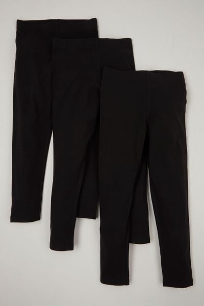 Black 3 Pack Leggings 3-14yrs