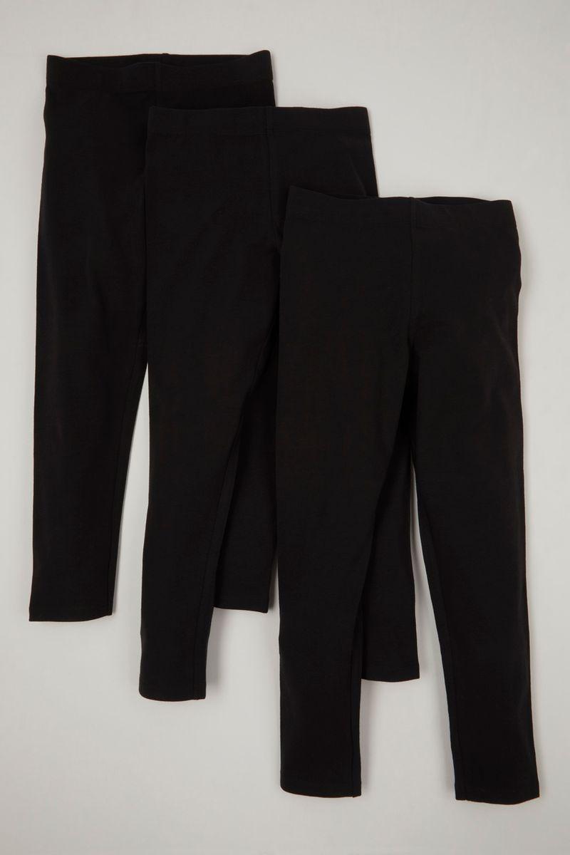 Black 3 Pack Leggings 3-14yrs