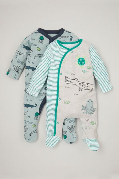 2 Pack Turtle Sleepsuits
