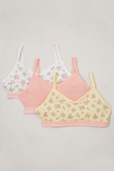 3 Pack Floral Crop Tops