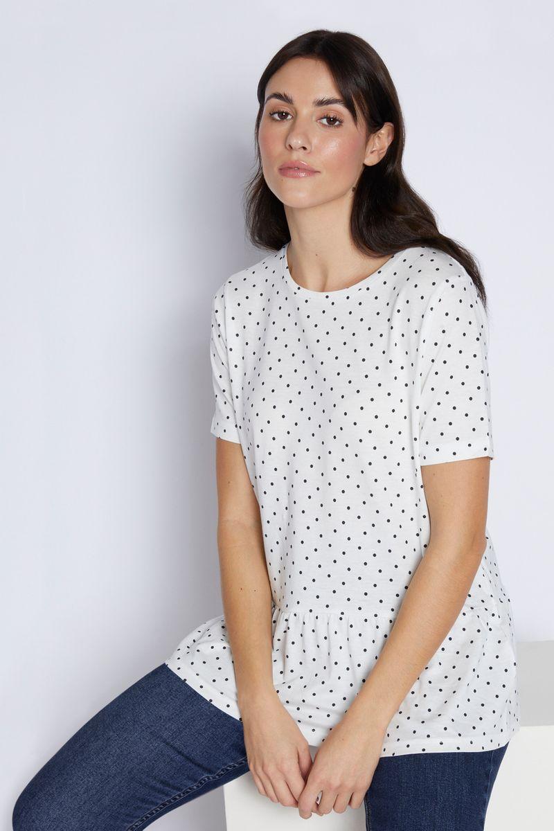 Polkadot Peplum T-shirt