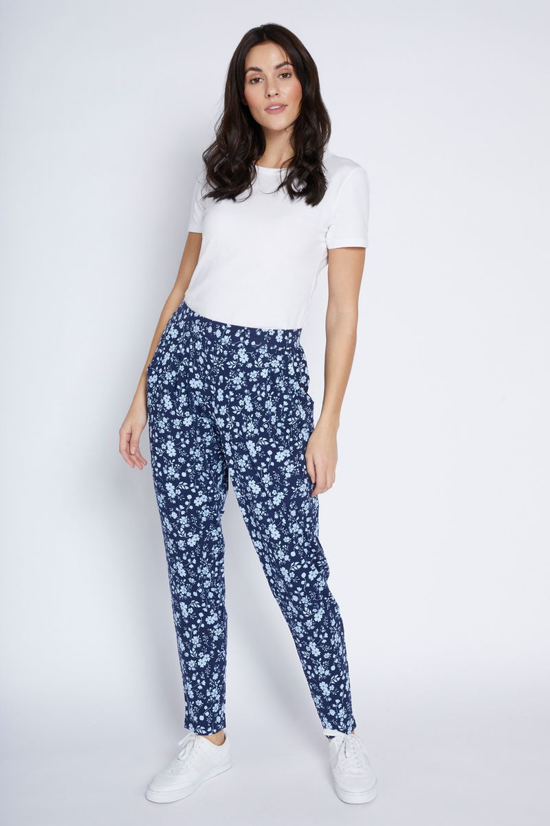Jersey Floral Hareem Trousers