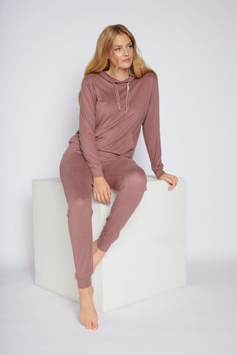Pink Hooded Loungewear Set