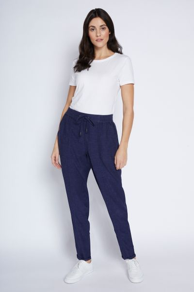 Navy Linen Trousers