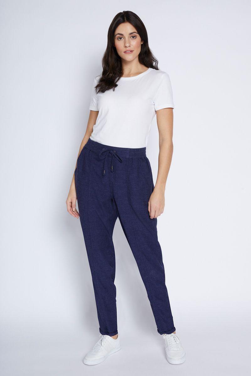 Navy Linen Trousers