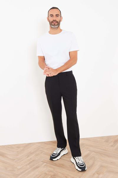 Black Formal Straight Trousers