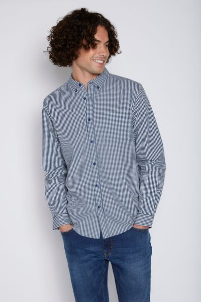 Navy Gingham shirt