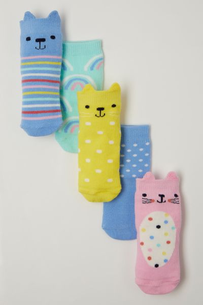 5 Pack Bright Bear socks