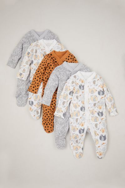 Online Exclusive 5 Pack Lion Sleepsuits