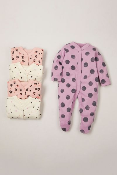 Online Exclusives 5 Pack Animal sleepsuits