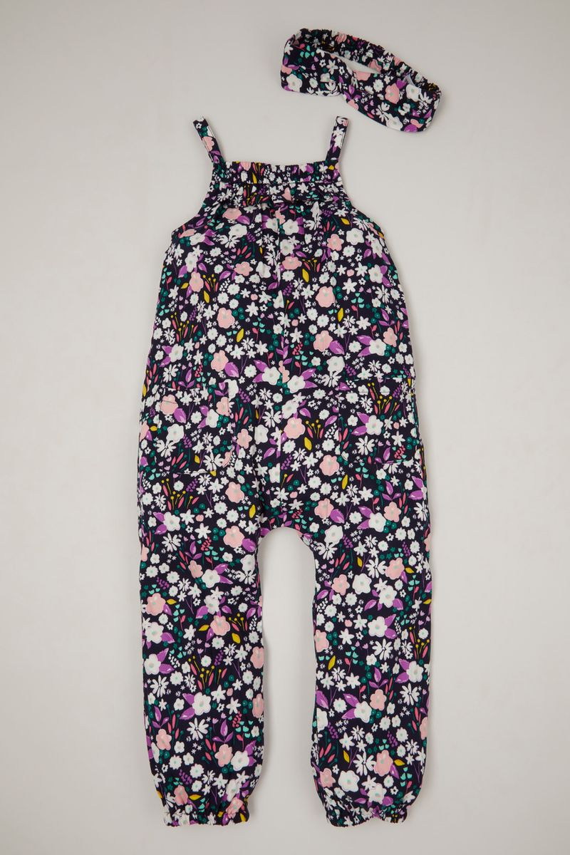 Flower Woven playsuit