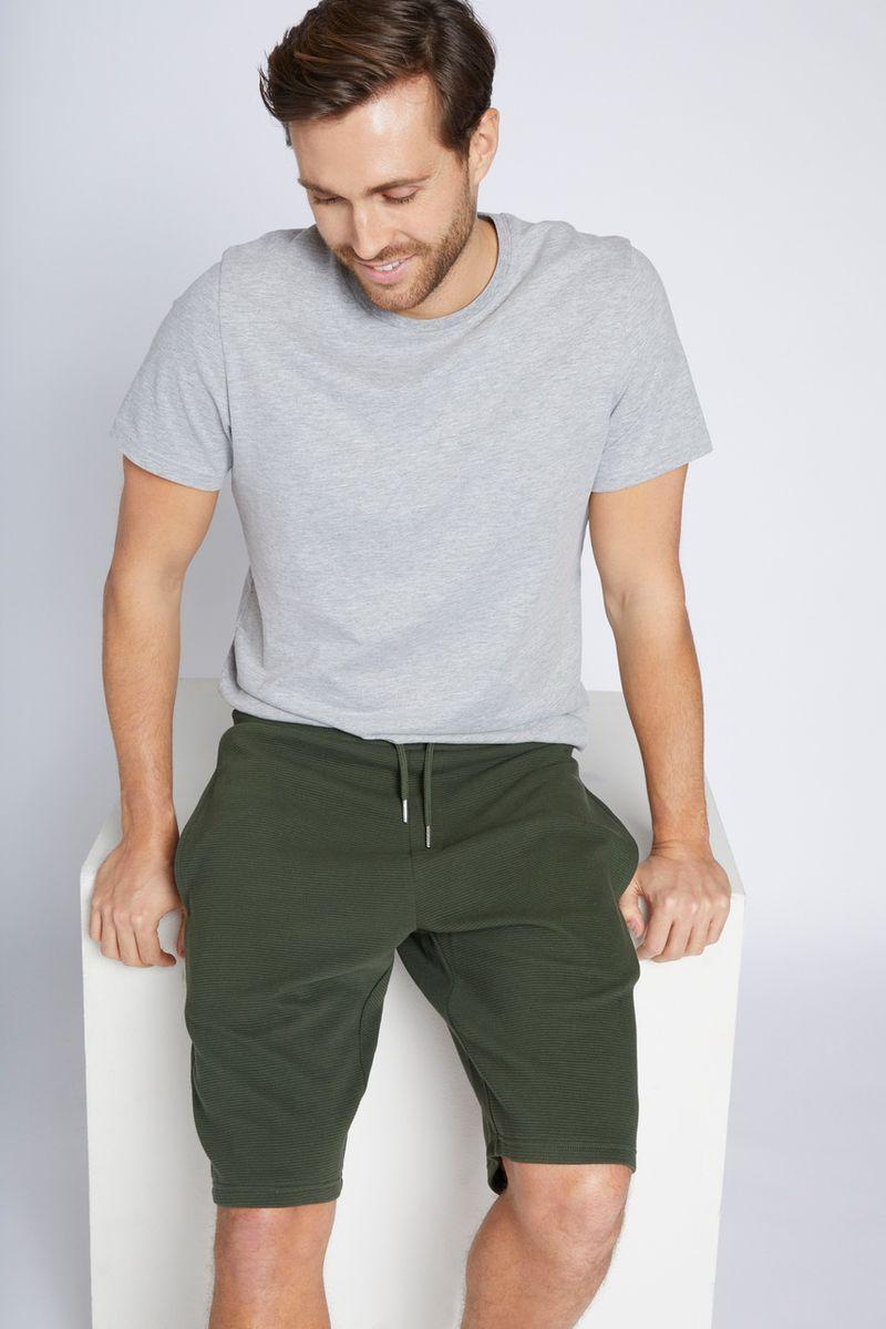 Khaki Ripple Lounge Shorts