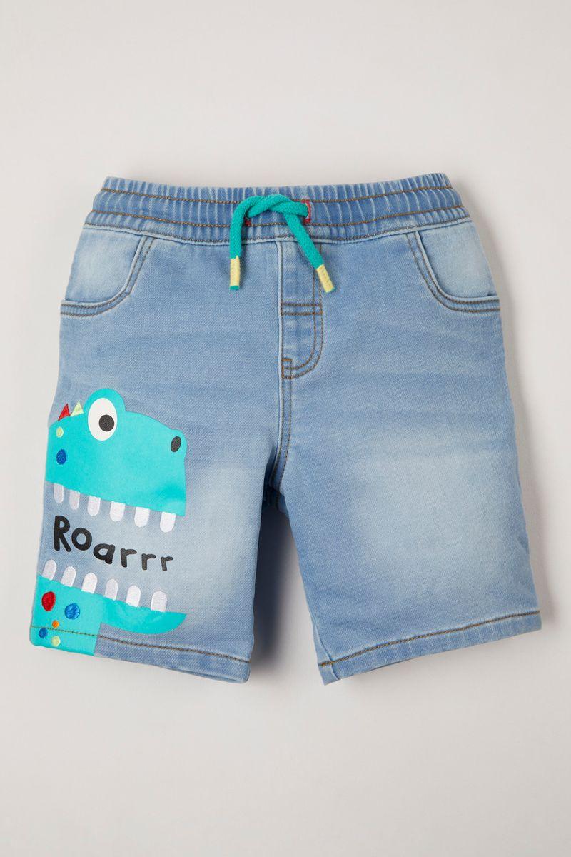 Dinosaur Denim Shorts