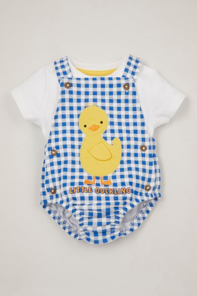Blue Duckling Romper set