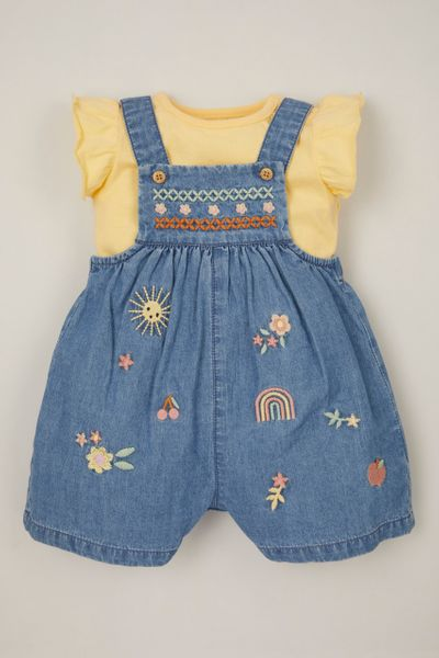 2 Piece Denim Dungaree Set