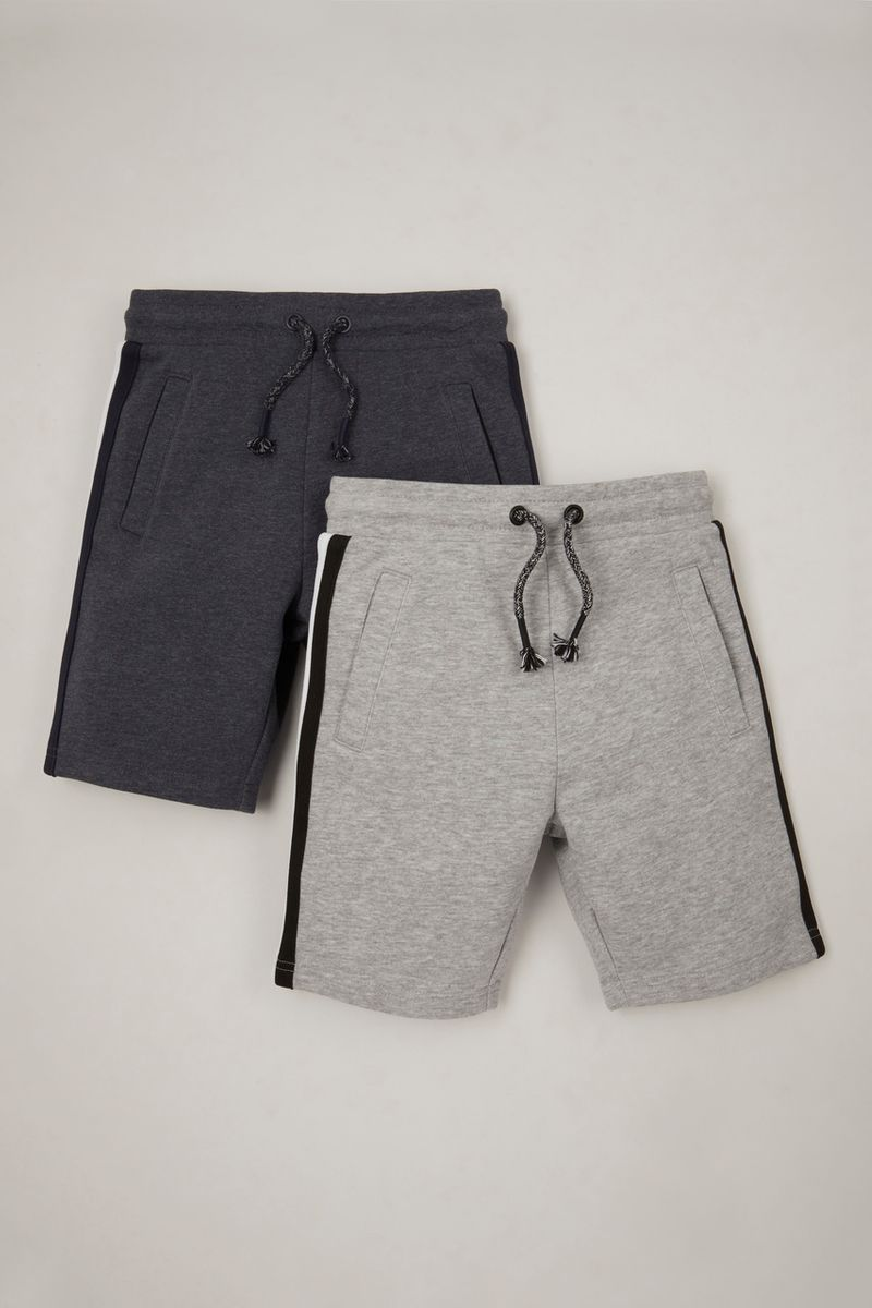 2 Pack Navy Charcoal Sweat Shorts