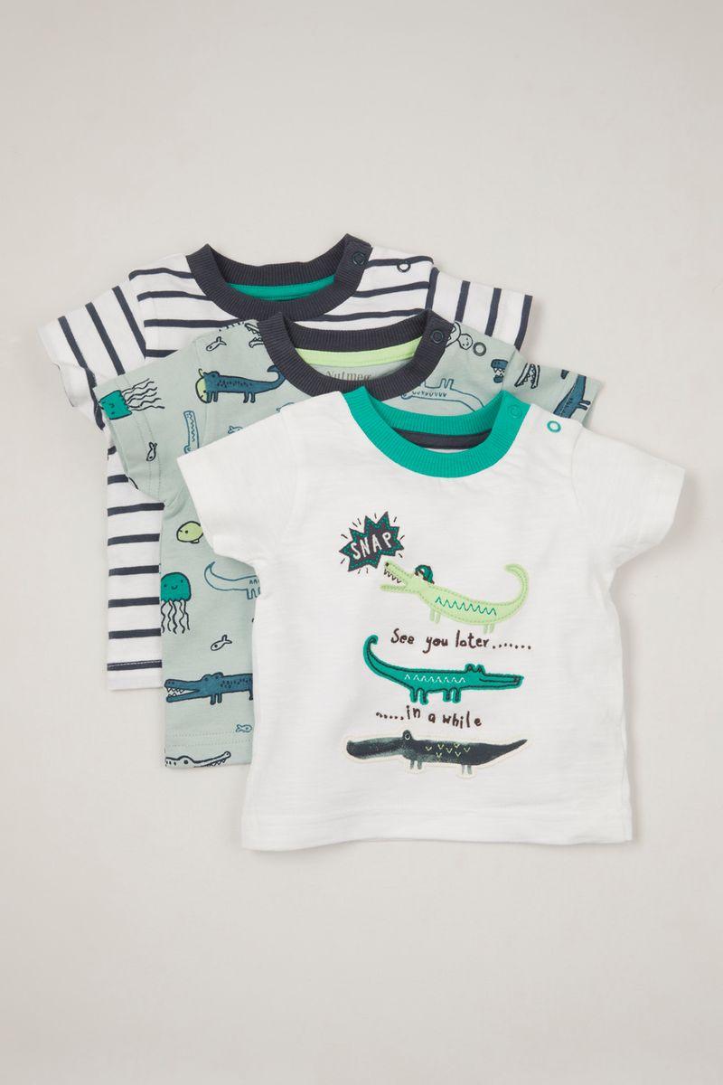 3 Pack Applique Crocodile T-shirts