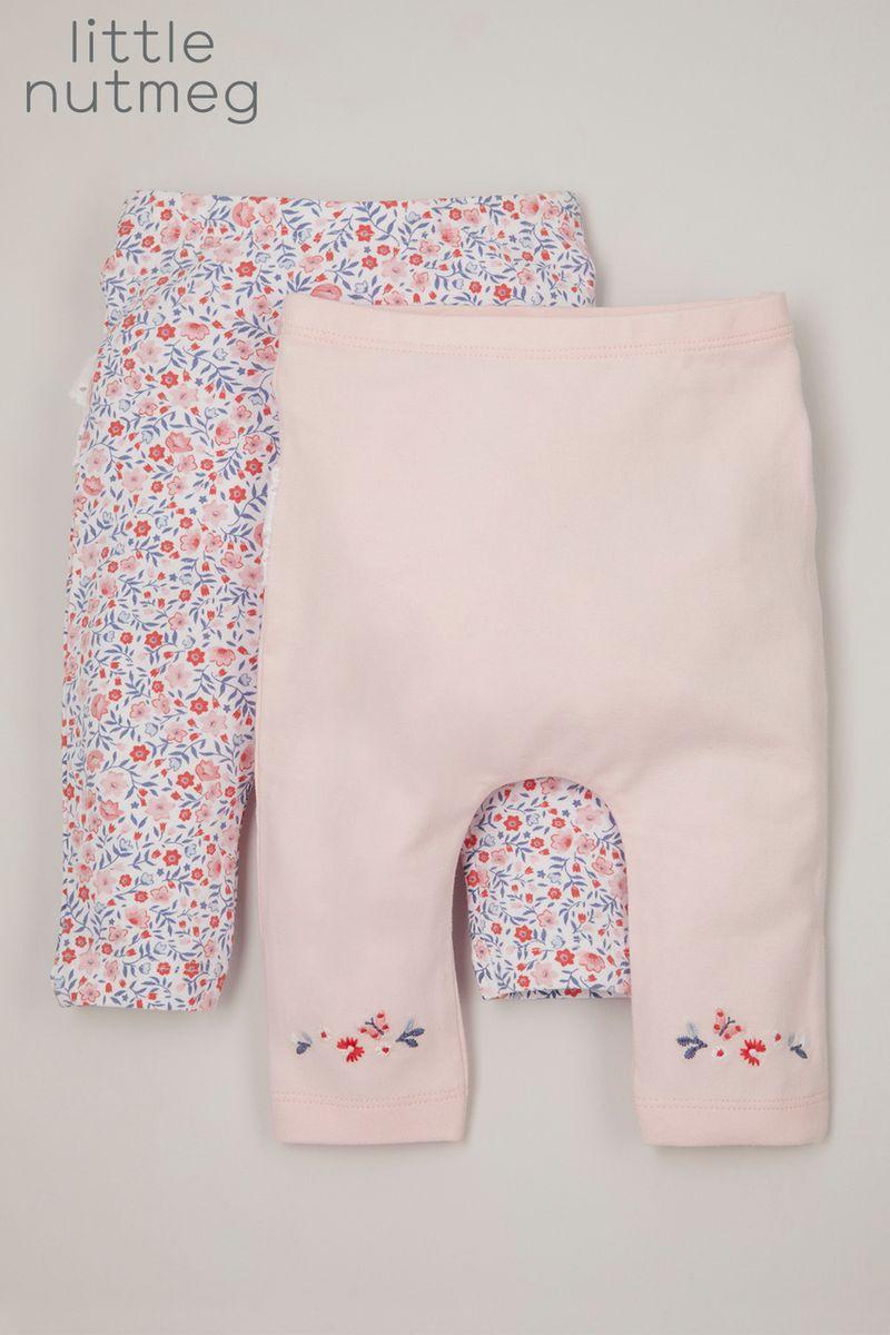 Little Nutmeg 2 Pack Lace Ruffle leggings