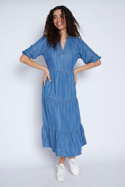 Tencel Tiered Dress