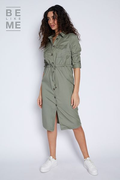 Be Like Me Belted Utility Dress