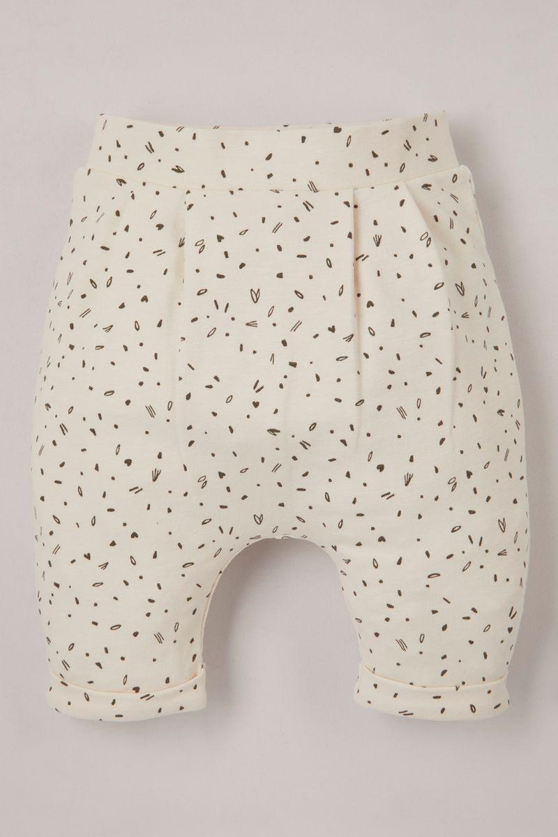 Cream Spot Print leggings