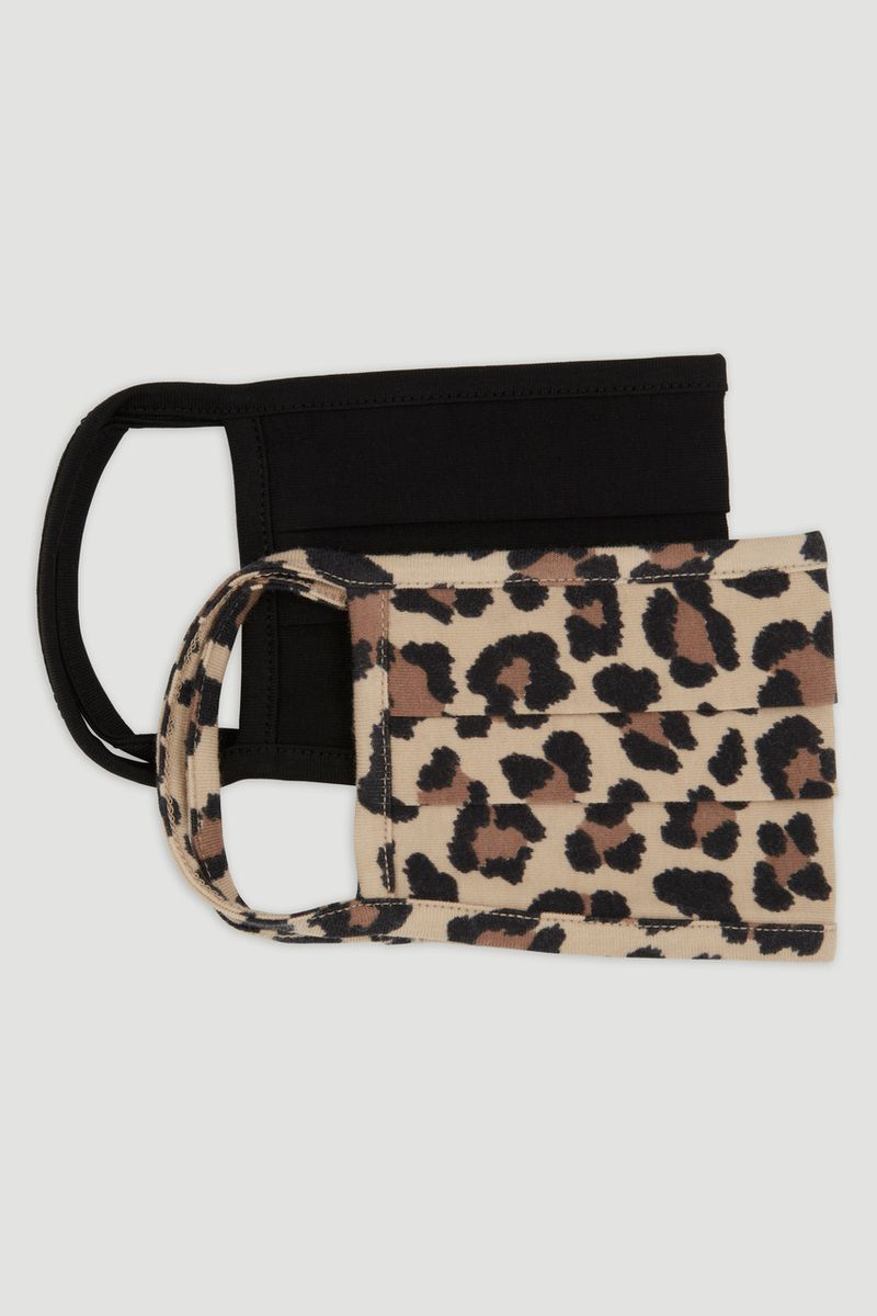 2 Pack Animal Print Face Coverings