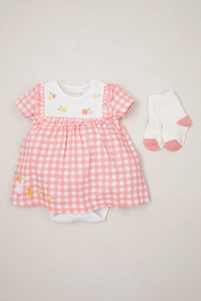 Gingham Duck Romper Dress set