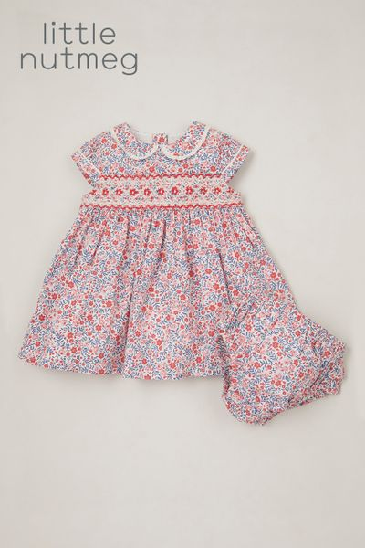 Little Nutmeg Smock Dress & Pant set