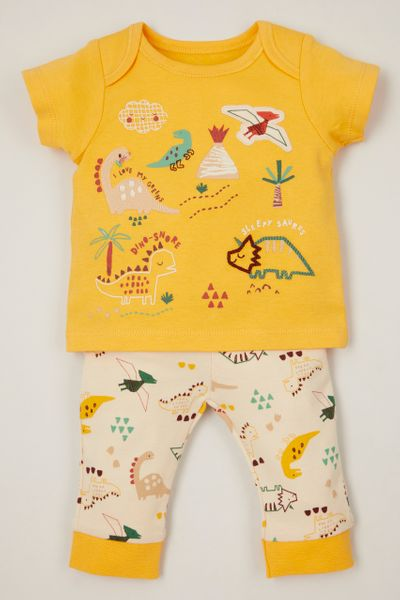 Yellow Dinosaur pyjamas