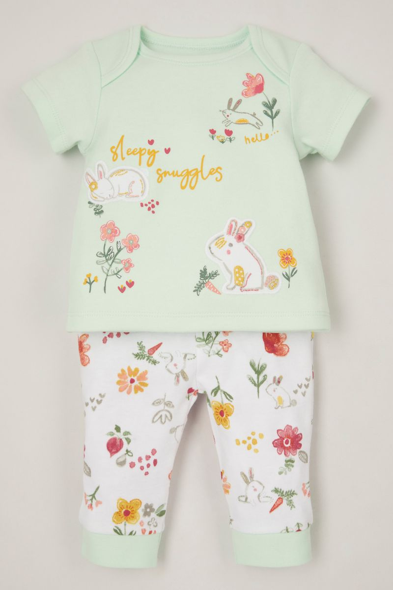 Green Bunny pyjamas