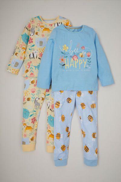 2 Pack Bee Happy Pyjamas