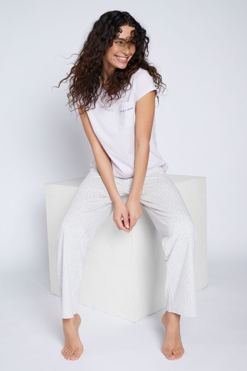 Lilac & Grey Spot Pyjamas