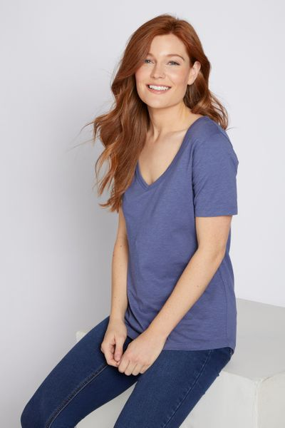 Dusky Blue Loose Fit T-shirt