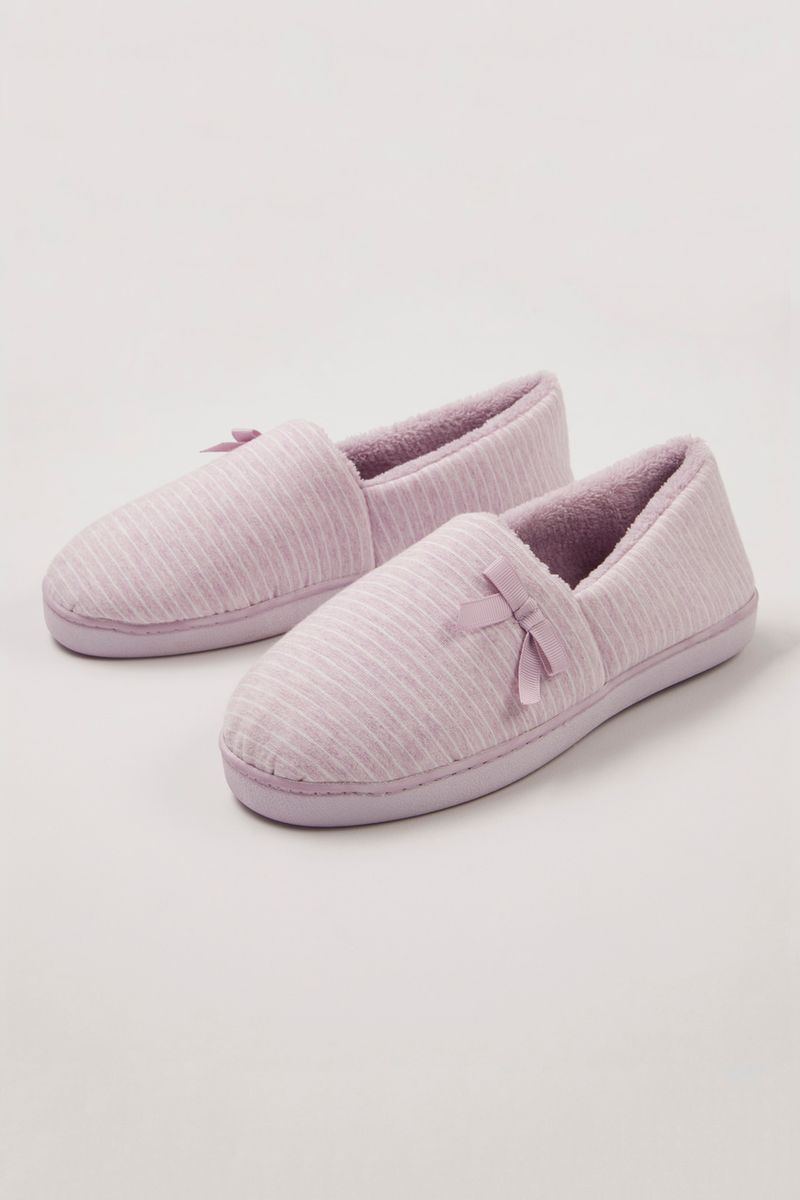 Lilac Stripe Slippers