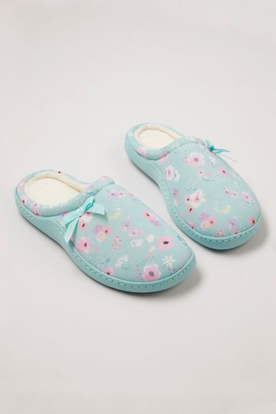 Blue Floral Cupsole Slippers